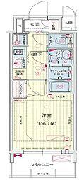 プレサンス THE MOTOYAMA[3階]の間取り