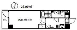 アドバンス神戸グルーブ2 7階1Kの間取り