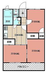 福岡県北九州市小倉南区湯川新町4丁目の賃貸マンションの間取り