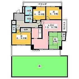 三旺マンション第7上社[1階]の間取り