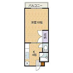 静岡県静岡市清水区石川新町の賃貸マンションの間取り