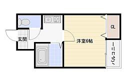 ツインコート平野1番館2番館[4階]の間取り