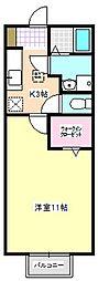 三重県四日市市伊倉2の賃貸アパートの間取り