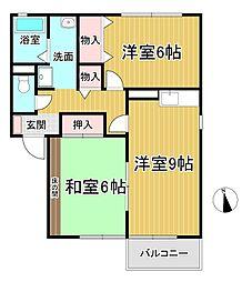 ファミーユ御井[2階]の間取り