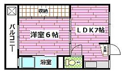 広島県広島市安芸区中野5丁目の賃貸マンションの間取り