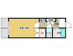 アドバンス阪南[5階]の間取り