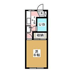 Sハイツ[1階]の間取り