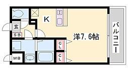 プレサンス三ノ宮駅前プライムタイム[2階]の間取り