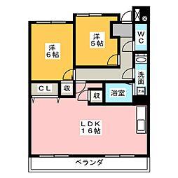 REFREX[2階]の間取り