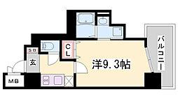 兵庫県神戸市兵庫区小河通5丁目の賃貸マンションの間取り
