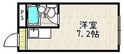 コーポヒトミ[2-C号室]の間取り