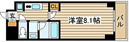 QCフラット北堀江[5階]の間取り
