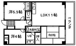 ライオンズマンション泉南樽井第2[8階]の間取り