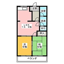 AMAガーデンロイヤル[2階]の間取り