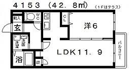 South Town 蔵家(サウスタウン蔵家)[A103号室号室]の間取り