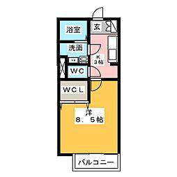アッファビーレ東山[1階]の間取り