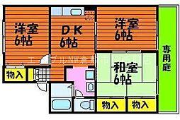 岡山県倉敷市福島丁目なしの賃貸アパートの間取り