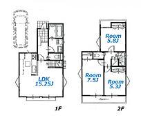建物参考プラン:間取り/3LDK、延床面積/79.38平米、土地建物参考価格/4280万円(税込)