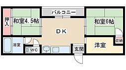 シャトー第1[2階]の間取り