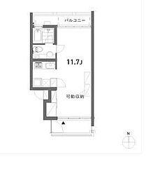 東京都目黒区平町1丁目の賃貸マンションの間取り