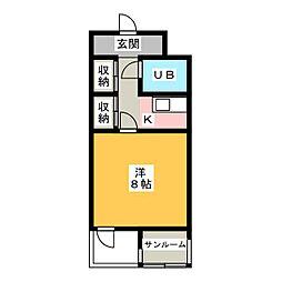 上島メロウハウス[1階]の間取り