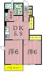 エーデルIII(中新宿)[1階]の間取り
