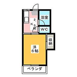 アローンハイツ  1号棟[2階]の間取り