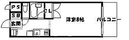 大阪府大阪市天王寺区上本町6丁目の賃貸マンションの間取り