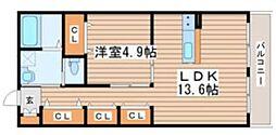 仙台市営南北線 北四番丁駅 徒歩20分の賃貸アパート 1階1LDKの間取り