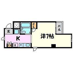 兵庫県尼崎市武庫之荘西2の賃貸マンションの間取り