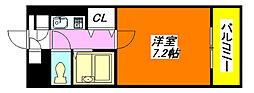 サクセス・永和[4階]の間取り