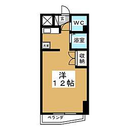 キャピタル萩野町[2階]の間取り