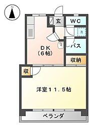 桜通コーポ[2階]の間取り