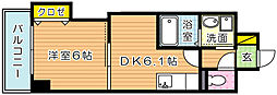 THE SQUARE・Suite Residence[4階]の間取り
