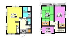 [一戸建] 埼玉県入間市東藤沢3丁目 の賃貸【/】の間取り