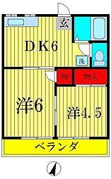 ハイツエミネンス[2階]の間取り