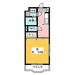ヴォヤージュHII[2階]の間取り