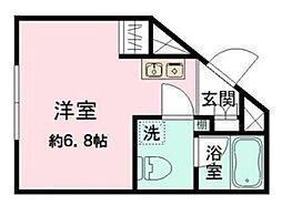 東京メトロ丸ノ内線 新大塚駅 徒歩4分の賃貸マンション 1階ワンルームの間取り