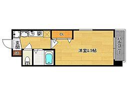 西院くめマンション[301号室]の間取り