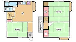 [一戸建] 兵庫県神戸市兵庫区矢部町 の賃貸【/】の間取り