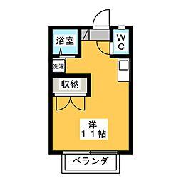 キャビンルーム[2階]の間取り