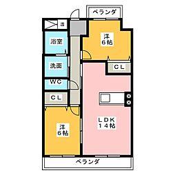 アフロディーテ[5階]の間取り