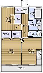八千代マンション[302号室]の間取り