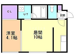 REGALO KIKUSUI 1階1LDKの間取り