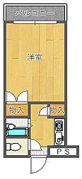ギャレ豊津[G1-13号室]の間取り