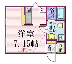 プリマ八番館[2階]の間取り