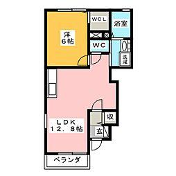フォルシュ・カッツェ[1階]の間取り