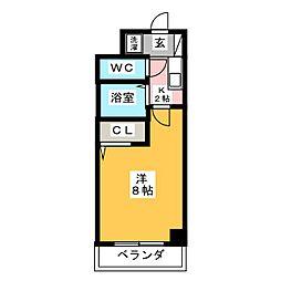 ハイツ原 PartII[5階]の間取り