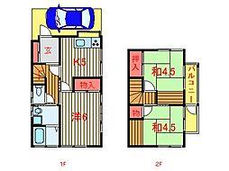 [一戸建] 千葉県船橋市八木が谷2丁目 の賃貸【/】の間取り