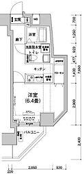 アイルプレミアム文京六義園 7階1Kの間取り
